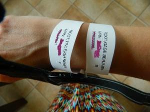 I get my bracelets.