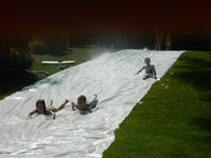 Took part in the giant slip n slide