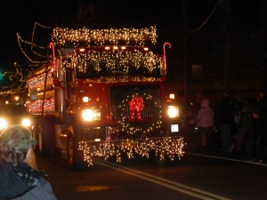 Papa we think you should decorate your semi trucks!