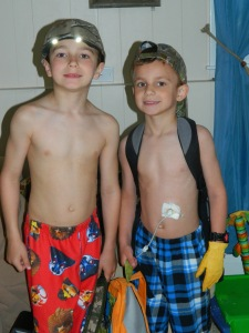 Charlie diagnosed June 2010. Gage diagnosed April 2010. Feeding tube placed December 2012.